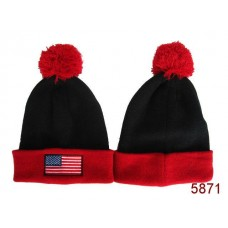 American Flag Knit Hats Black Red 002