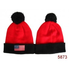 American Flag Knit Hats Red 004