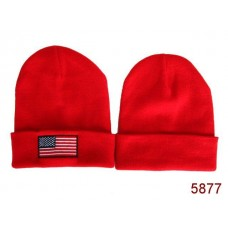 American Flag Knit Hats Reds 008