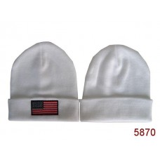 American Flag Knit Hats White 001