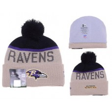 NFL Baltimore Ravens Beanies Knit Hats Winter Caps Beige