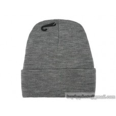 Blank Beanie Knit Hats Caps Gray 3