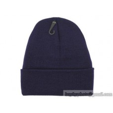 Blank Beanie Knit Hats Caps Navy 2