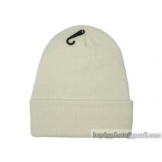 Blank Beanie knit Hats White 1