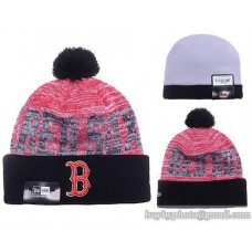 Boston Red Sox Word Fuzz Beanies Knit Hats