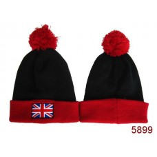 British Flag Beanies Knit Hats Black Red 005