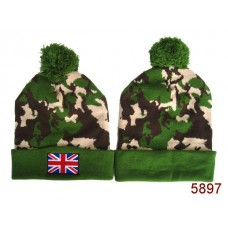British Flag Beanies Knit Hats Camo 003