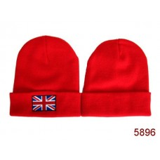 British Flag Beanies Knit Hats Red 002