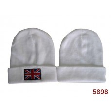 British Flag Beanies Knit Hats White 004