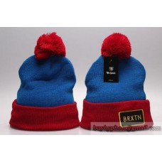 Brixton Beanies Knit Winter Caps Blue Red