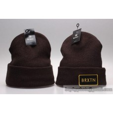 Brixton Beanies Knit Winter Caps Brown No Ball