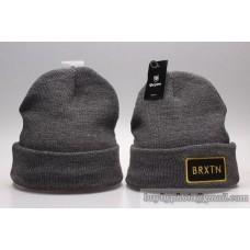 Brixton Beanies Knit Winter Caps Gray No Ball