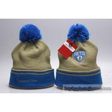 Brooklyn Nets Beanies Knit Hats Winter Gray Blue