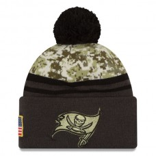 NFL Tampa Bay Buccaneers New Era Camo/Graphite Salute To Service Sideline Pom Knit Hat