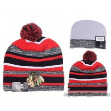 Chicago Blackhawks Beanies Knit Hats Winter Caps Stripe