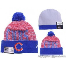 Chicago Cubs Word Fuzz Beanies Knit Hats