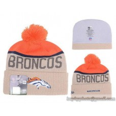 Denver Broncos Beanies Knit Hats Winter Caps Beige