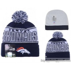 Denver Broncos Beanies Knit Hats Winter Caps Silver Thread Wool