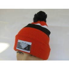Diamond Beanies Knit Hats Orange 001
