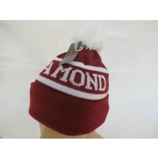 Diamond Beanies Knit Hats Red 003