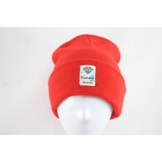 Diamond Beanies Knit Hats Reds 013