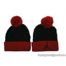 Jordan Beanies Knit Hats Black/red 105