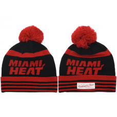NBA Miami Heat Mitchell And Ness Beanie Knit Hats