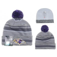 NFL BALTIMORE RAVENS BEANIES Fashion Knitted Cap Winter Hats New Era Gray 378
