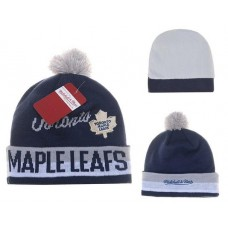 NHL Doronto Maple Leafs Beanies Mitchell And Ness Knit Hats Navy