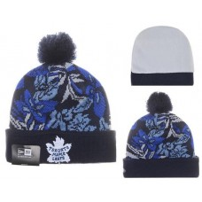 NHL Doronto Maple Leafs Beanies Mitchell And Ness Knit Hats Plant Leaf Blue Black