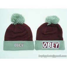 OBEY Beanies Knit Hats Wine Gray (4)