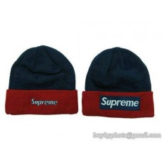 Supreme Beanies Knit Hats Navy/Red 128