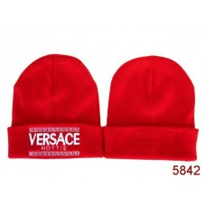 VERSACE Beanies Knit Hats Red 002