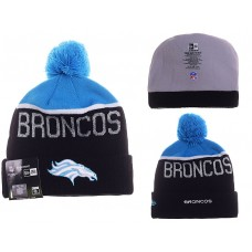NFL Denver Broncos New Era Beanies Knit Hats Black Blue