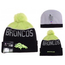 NFL Denver Broncos Beanies Knit Hats Black Neon Green