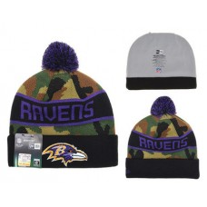 NFL Baltimore Ravens New Era Beanies Camo Knit Hats