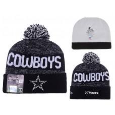 NFL Dallas Cowboys New Era Black/Dark Grey Beanies Knit Hats