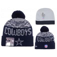 NFL Dallas Cowboys New Era Navy Blue/Grey Beanies Knit Hats